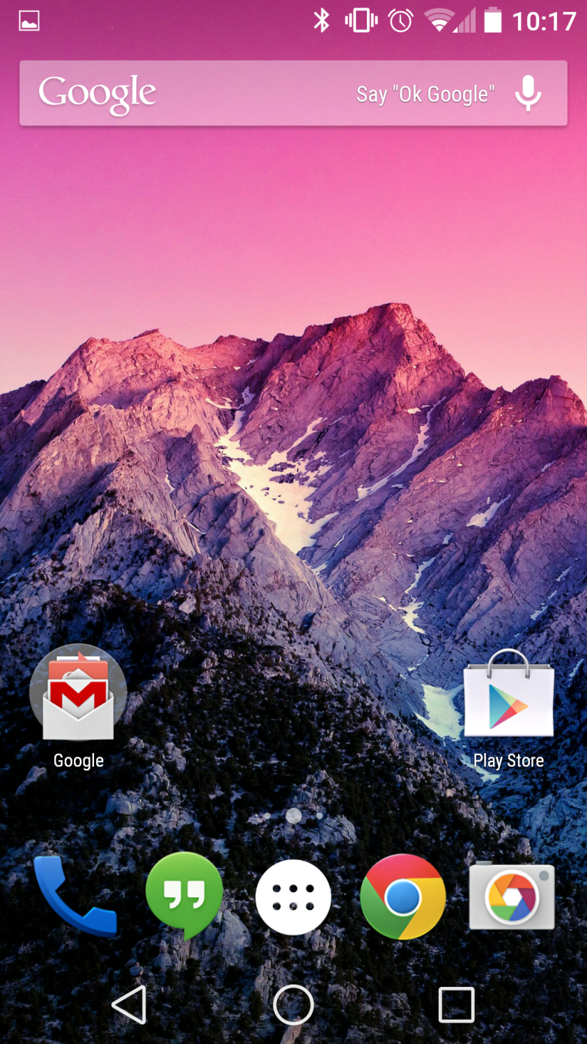 Android L Developer Preview Screenshot