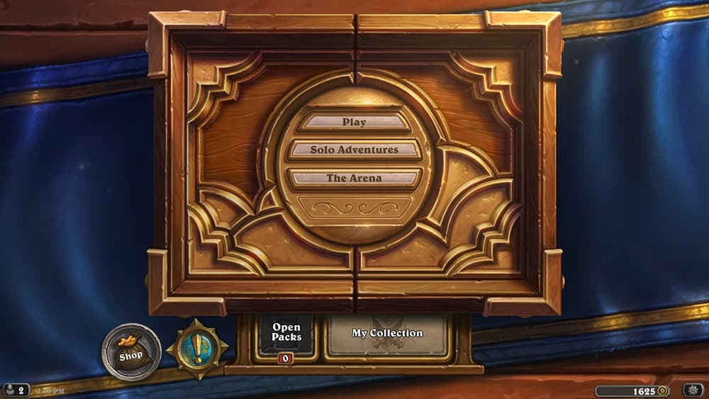 Updated Hearthstone Menu Screen