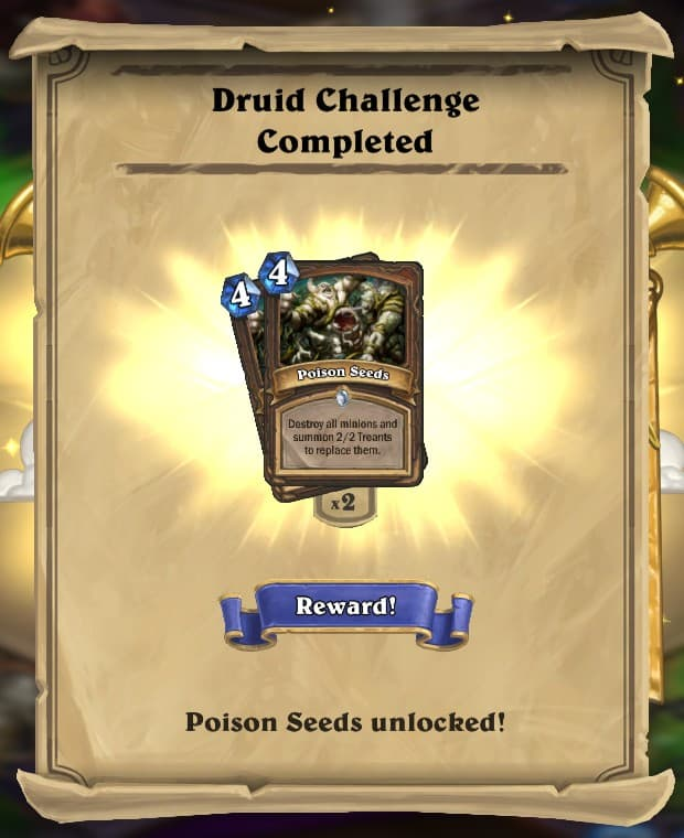 Druid Challenge Reward Card