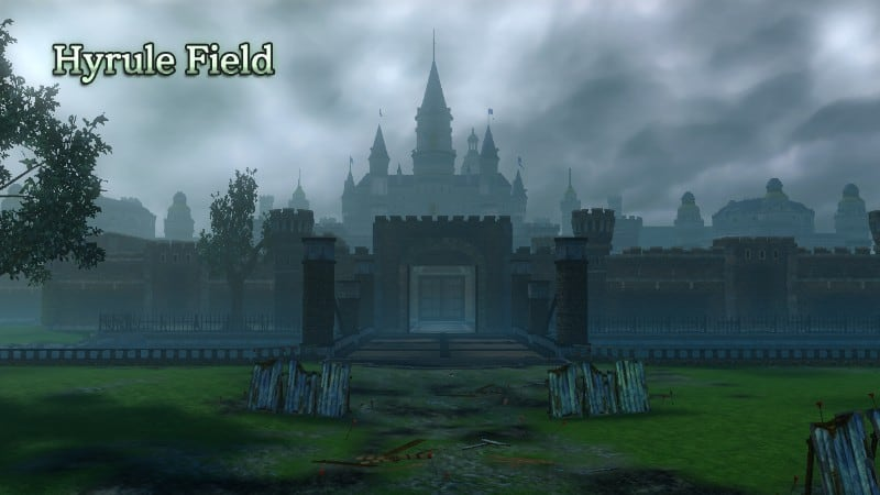 Hyrule Field, after apparently being covered in mud and PS2 sensibilities.