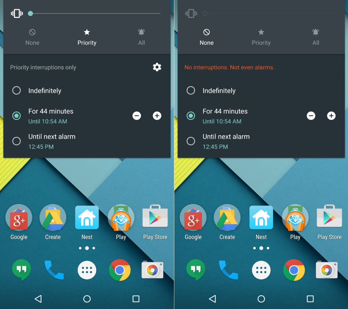 Android 5.1 Priority Notification Settings