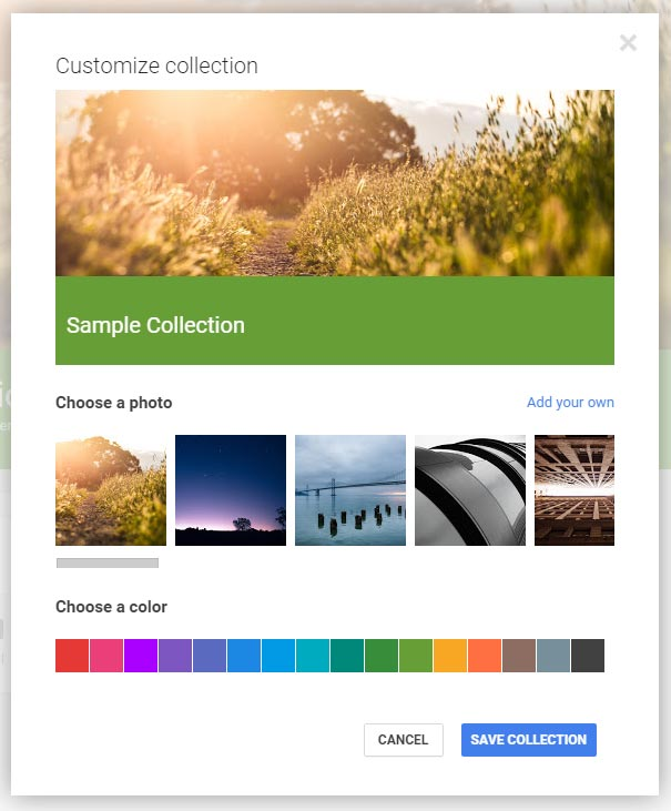 Google-Collections-1-Create-Collections-Customize-Collection-Options