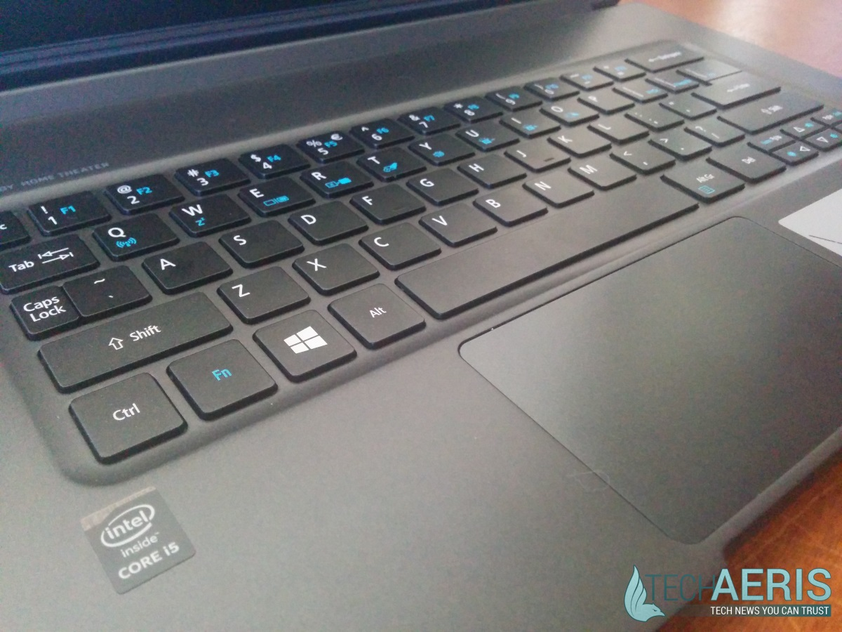 Acer Aspire R13 Review - Keyboard and Touchpad