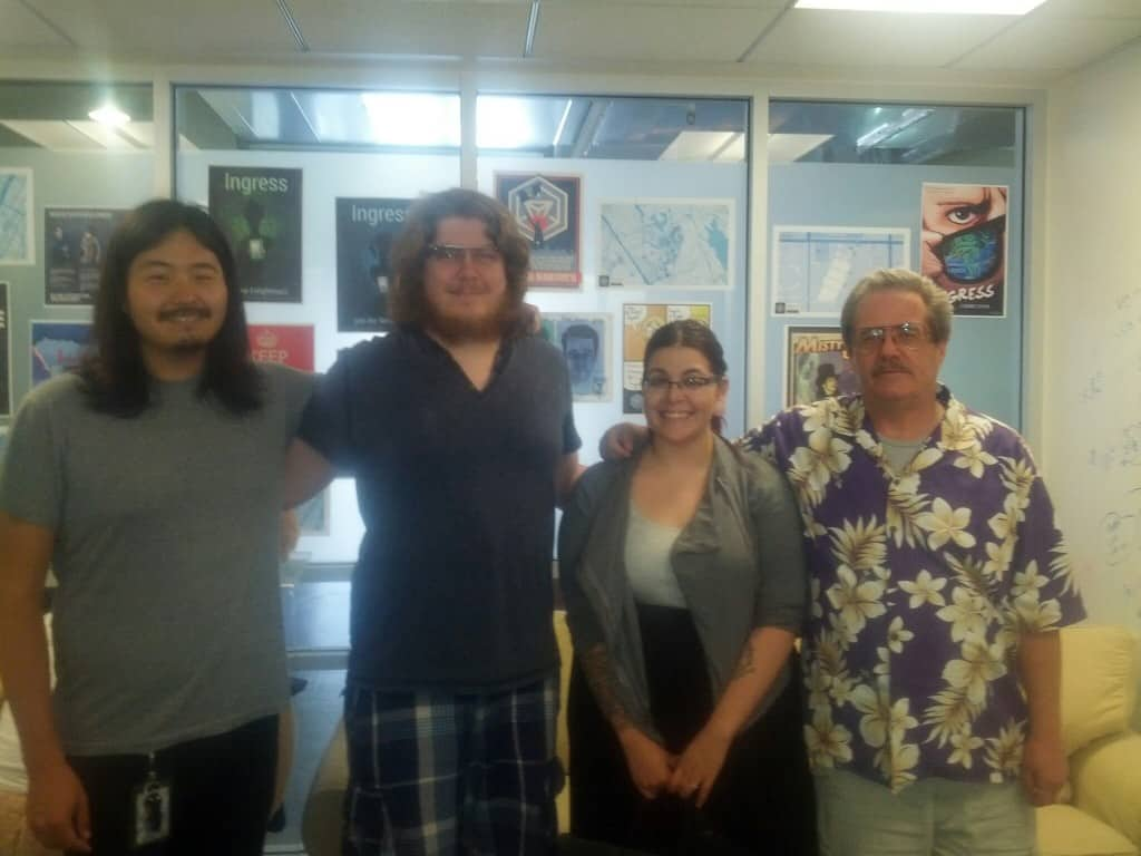 Brian, myself, my wife, and Joe in their Venice office.