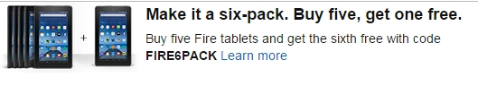 Amazon Tablet 6-pack