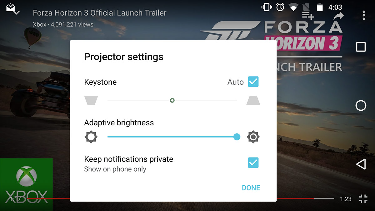 moto-insta-share-projector-settings