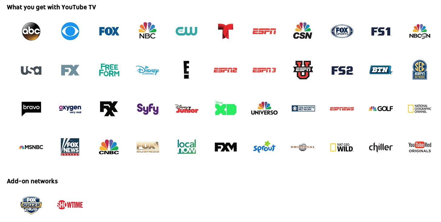 YouTube-TV-networks