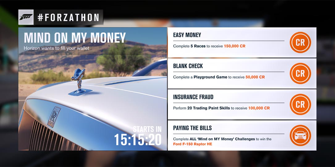 "Forzathon March 14: Score the F-150 Raptor HE in the ""Mind on MY ..."