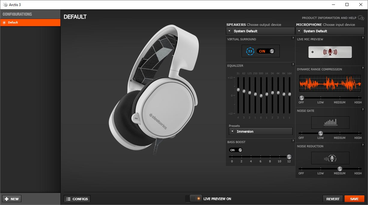 SteelSeries-Engine-3-Arctis-3-software-settings