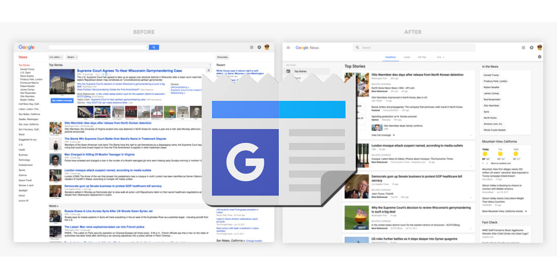 Google News gets a makeover with its new UI