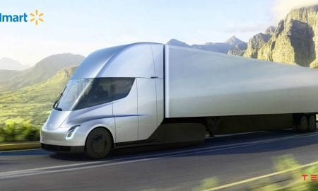 Tesla electric tractor trailer