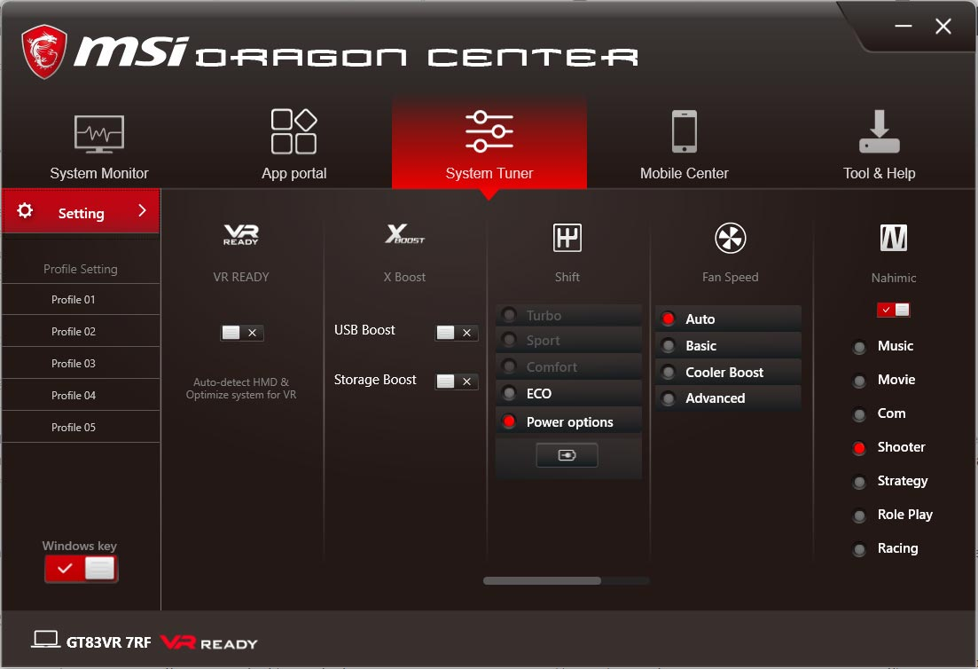 MSI-Dragon-Center