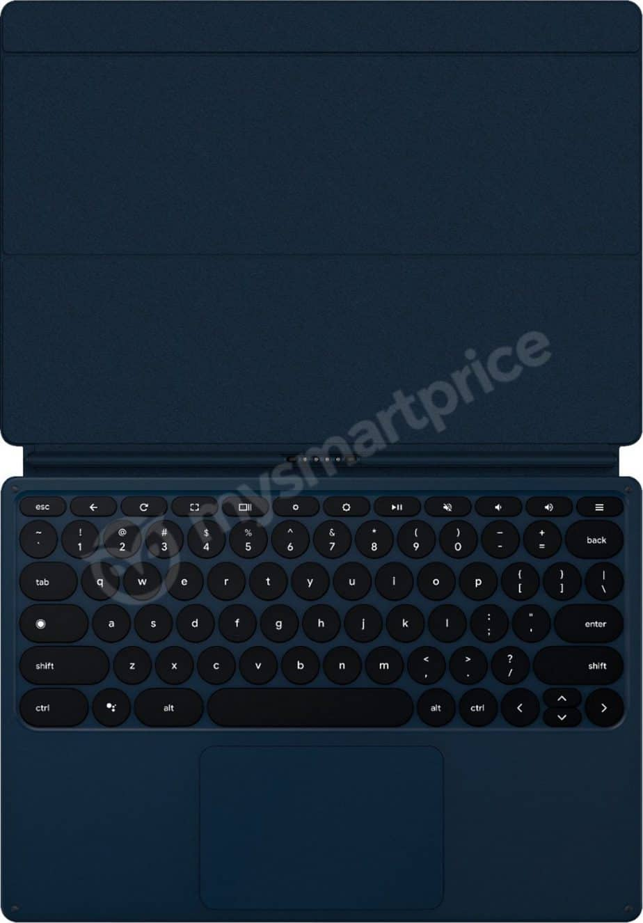 The Pixel Slate keyboard will be detachable and connect via a pogo connector.