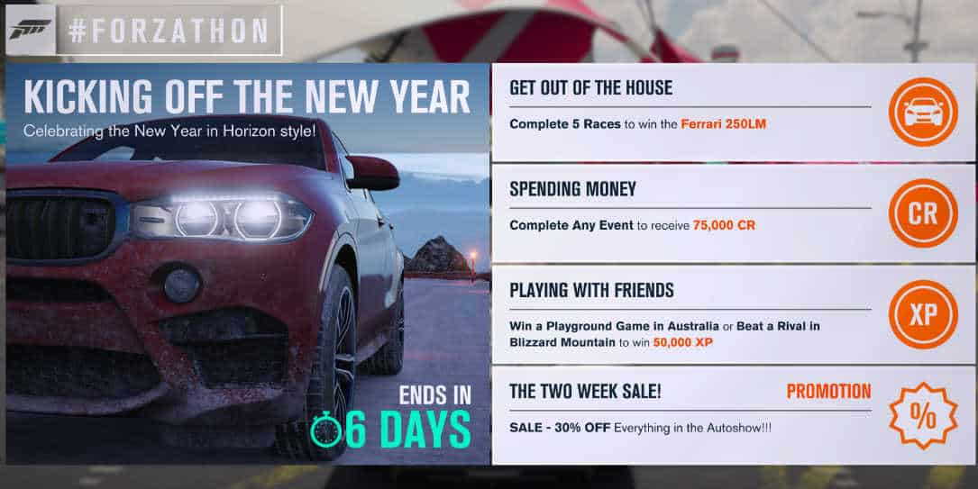 Forza Horizon 3 Forzathon December 28