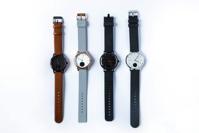 The four Oaxis Timepiece variations.