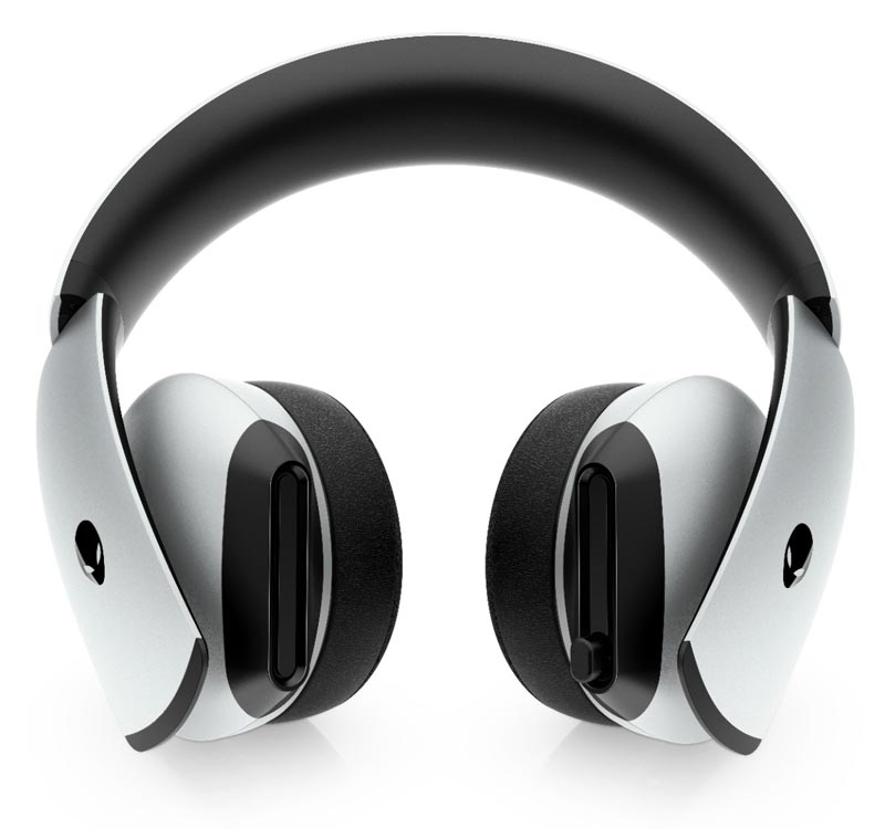 The Alienware 7.1 Gaming Headset in Lunar White.