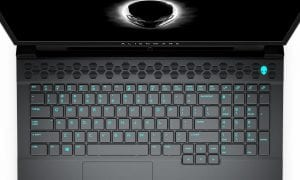 Dell Alienware m17 gaming laptop top view