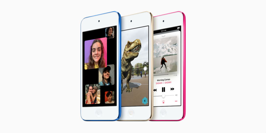 The new iPod Touch comes in a variety of colours.