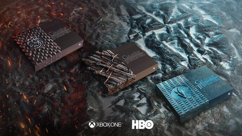 Custom Game of Thrones Xbox One S All-Digital Edition consoles