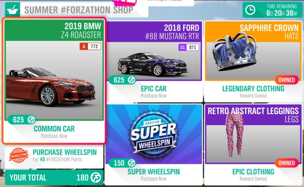 The Forza Horizon 4 #Forzathon June 6 Summer #Forzathon Shop