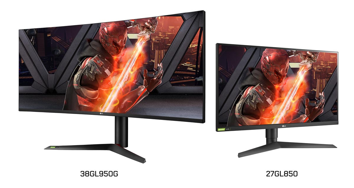 The LG 38GL950G and 27GL850 IPS gaming monitors