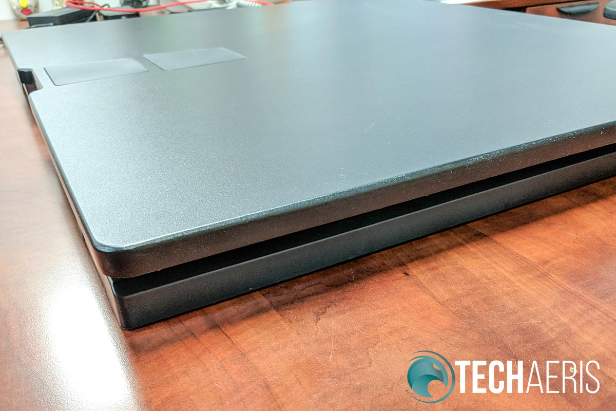 The Ergotron WorkFit-TX standing desk converter has a very low profile