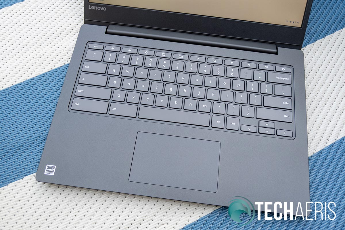The Lenovo Chromebook S330 keyboard