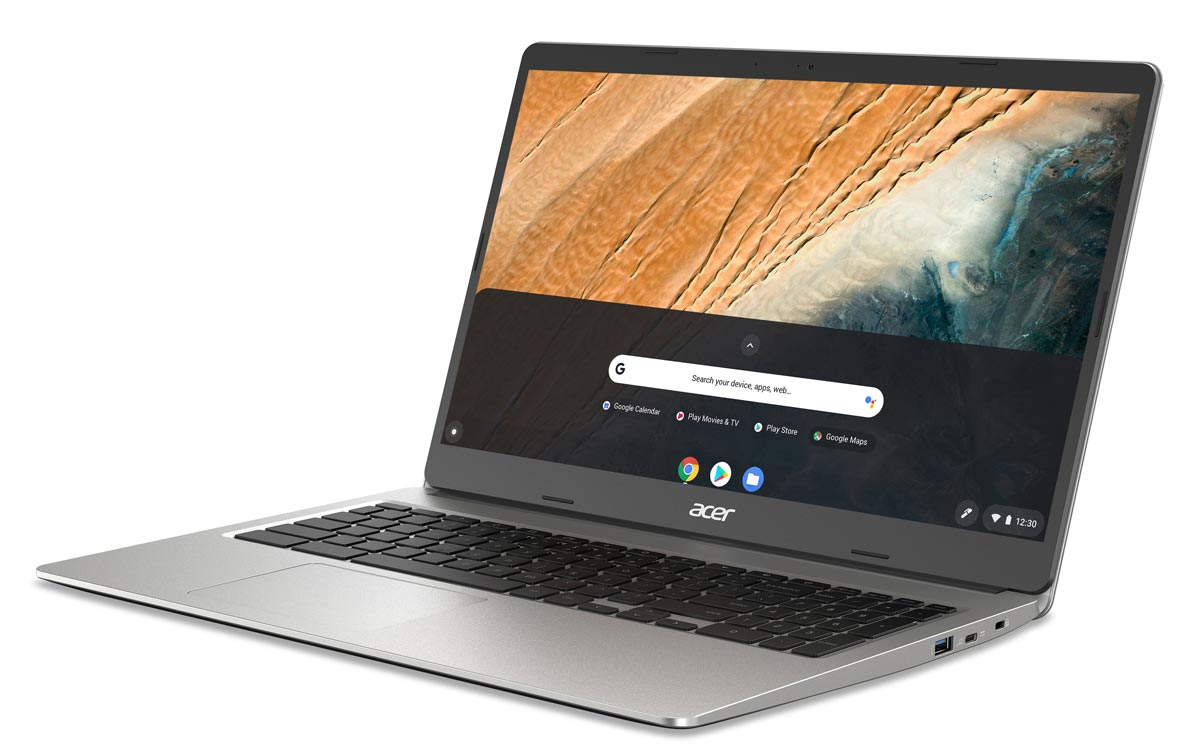 The new Acer Chromebook 315 features a full-sized numeric keypad