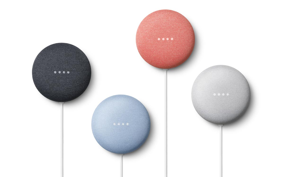 The Nest Mini in four colours