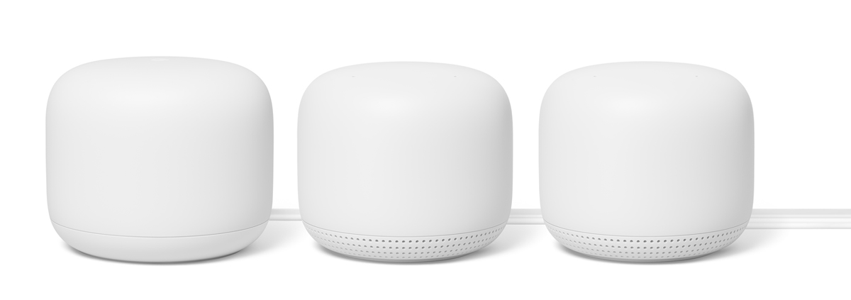 The new Nest WiFi is available in two- or three-pack sets