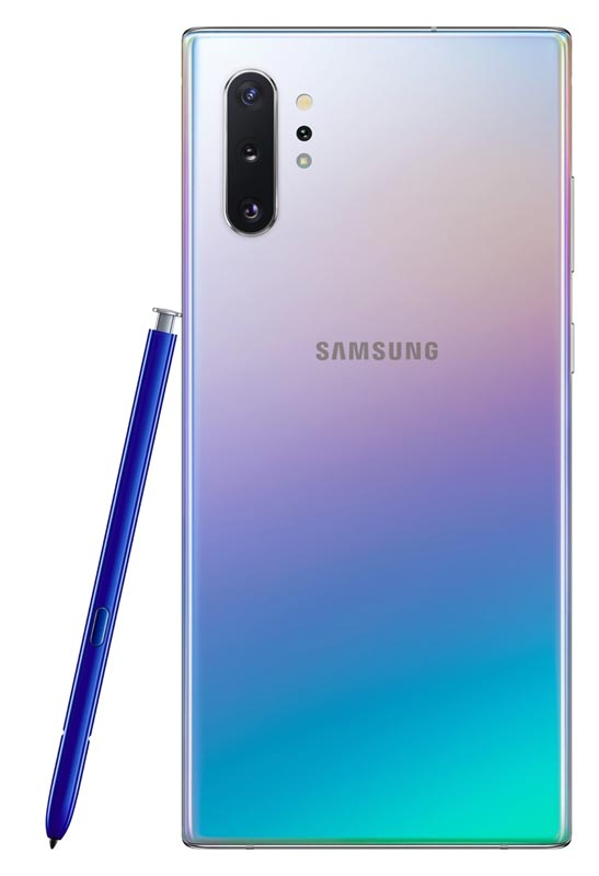 The Aura Glow colour option on the Galaxy Note10+