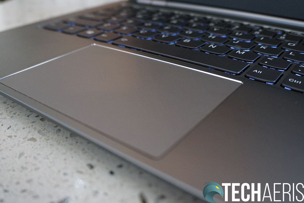 The Lenovo ThinkBook 14s has a decent sized TrackPad
