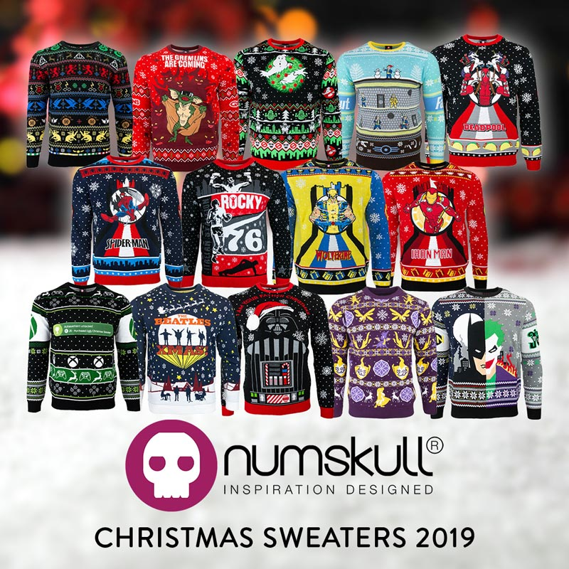 Numskull 2019 Ugly Christmas Sweater collection