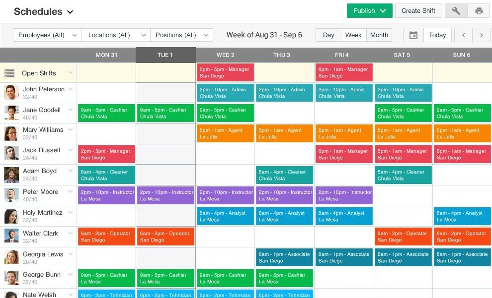 Ximble employee scheduling software providers for businesses