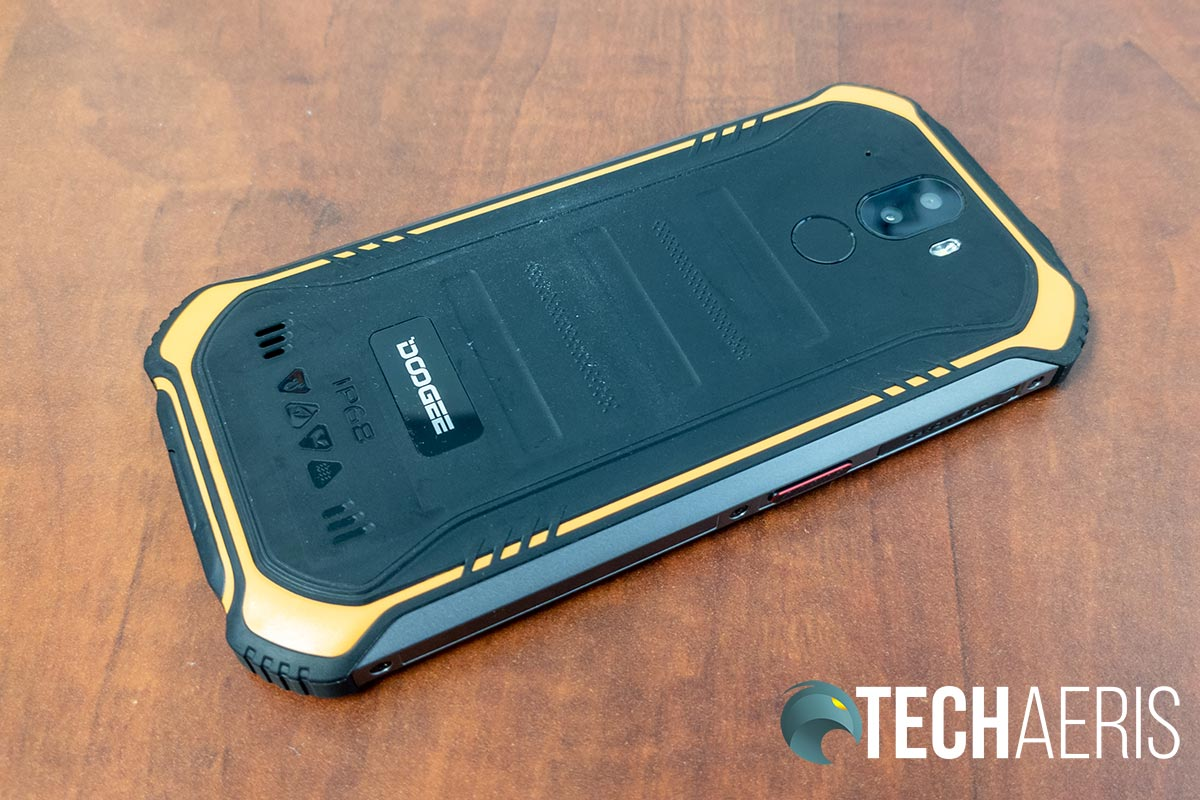 Back of the Doogee S40 rugged smartphone