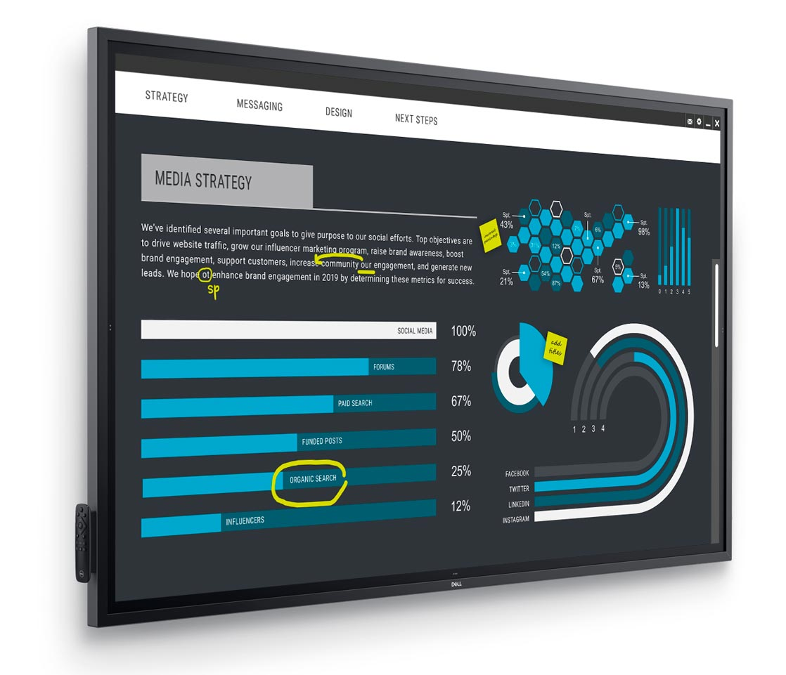 The Dell 86 4K Interactive Touch Monitor