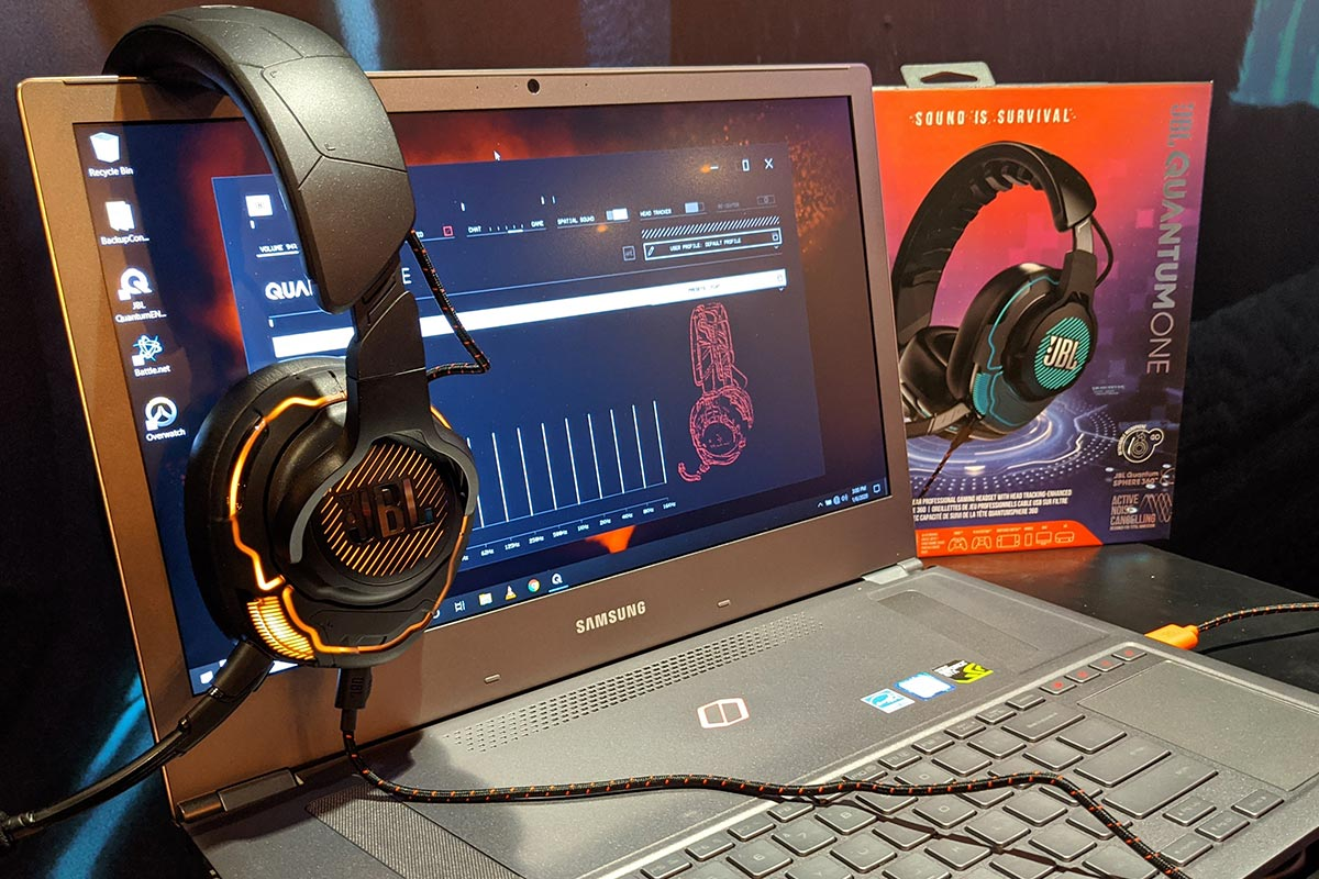 The JBL Quantum ONE gaming headset at CES 2020