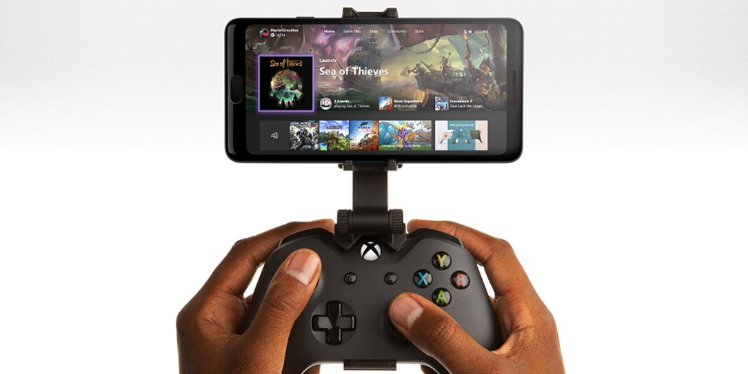 Xbox Console Streaming (Preview) Xbox controller with mobile device