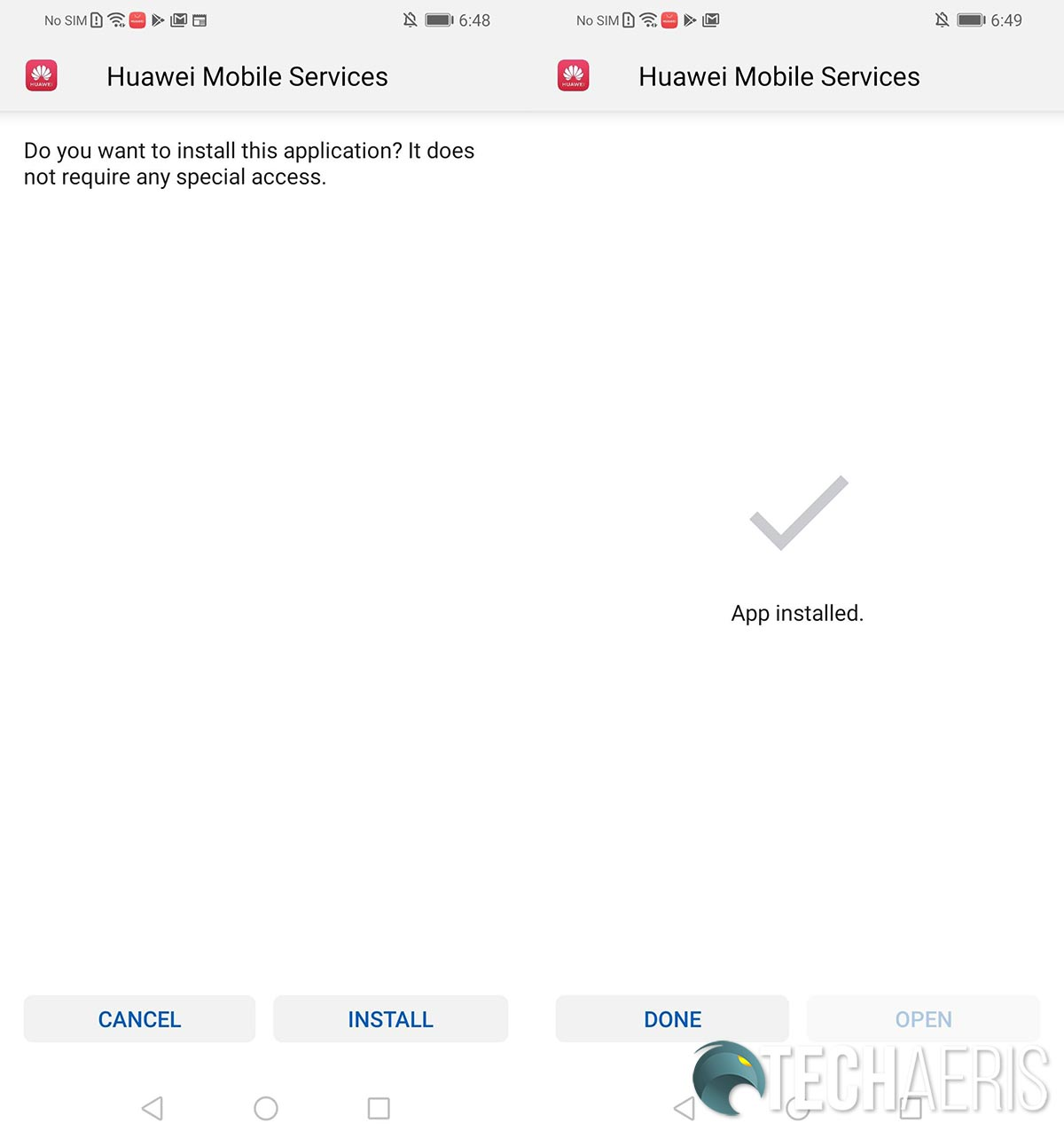 Huawei AppGallery screenshots