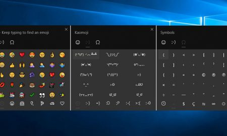 Insert symbols Windows 10 screenshots