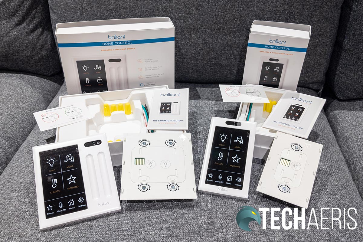 What's included with the Brilliant Home Control 2- and 1-Switch Controls