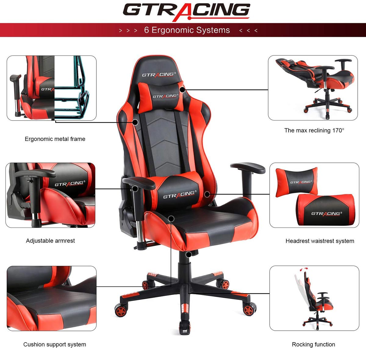Some features of GTRacing gaming chairs