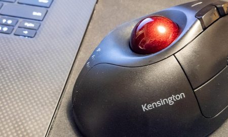 The Kensington Pro Fit Ergo Vertical Trackball