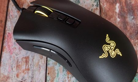 The Razer DeathAdder V2 ergonomic wired gaming mouse