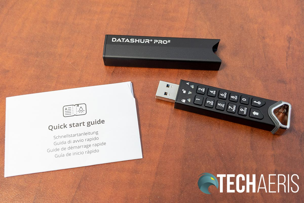 What's included with the iStorage datAshur Pro2 encrypted USB stick