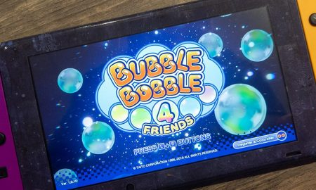 Bubble Bobble 4 Friends on a Nintendo Switch console