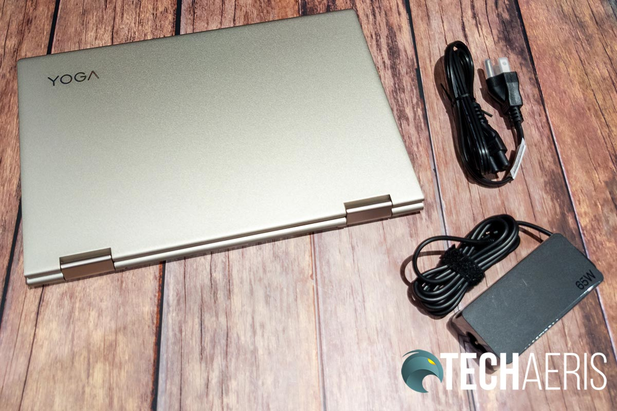 """What's included with the Lenovo YOGA C740 2-in-1 laptop (14"""" version shown)"""
