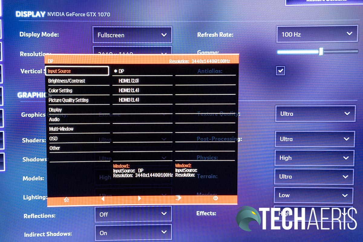 Heroes of the Storm screenshot showing 100Hz refresh rate on an NVIDIA graphics card
