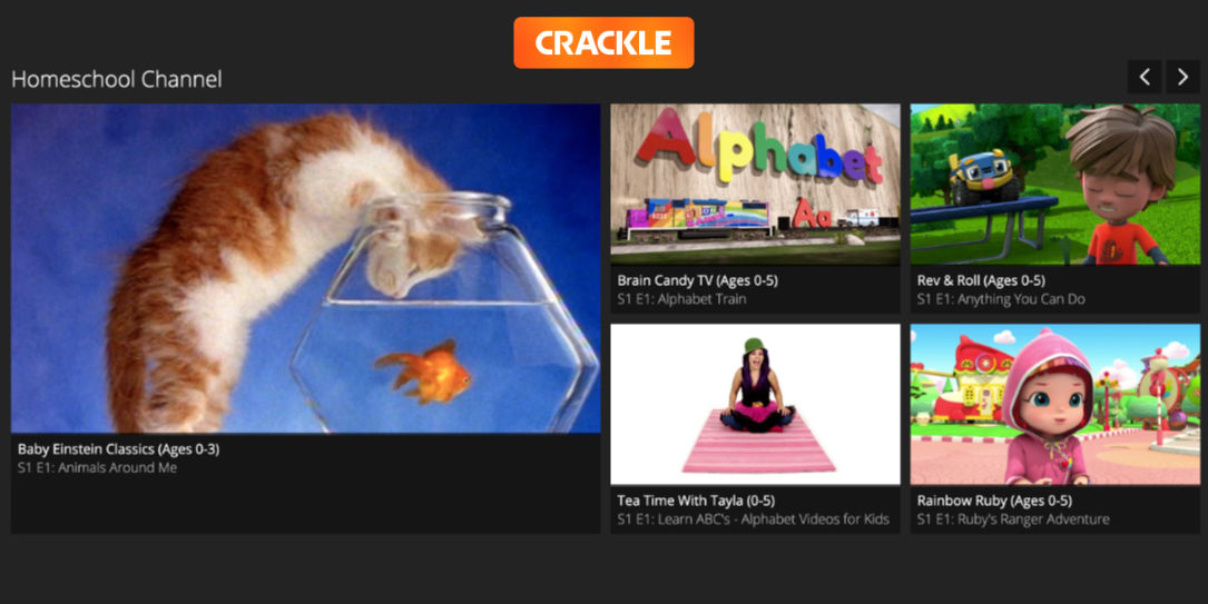 homeschool channel educational content Crackle streaming