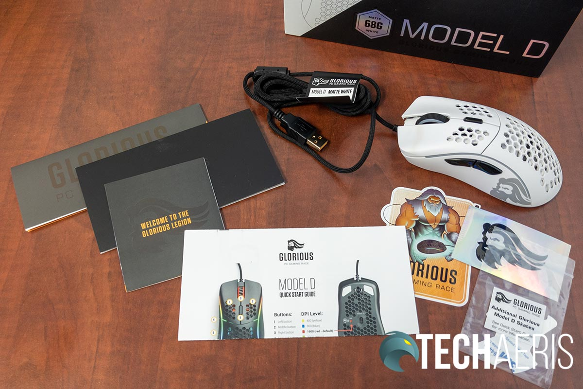 What's included with the Glorious Model D gaming mouse